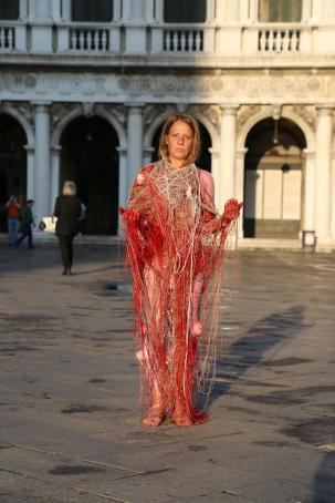 Potential, Performance, Piazza San Marco, Venice, infr'action, 2015