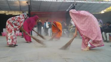 performance ritual, India, bridging society gaps, art summit Jaipur, curated by Dimple B Shah
